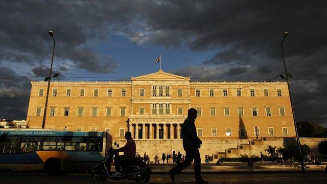 Parliament building in Greece