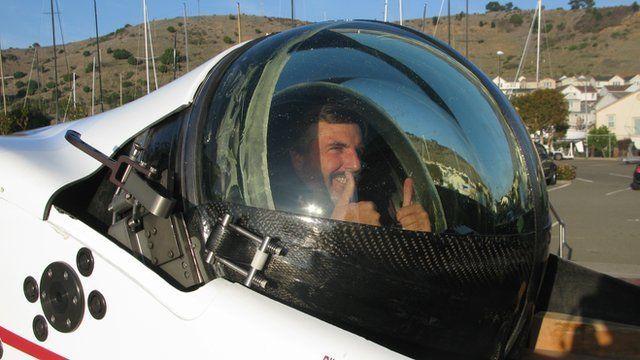 Chris Welsh in Deep Flight Challenger