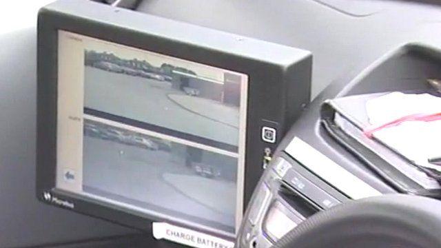 Images on CCTV camera car