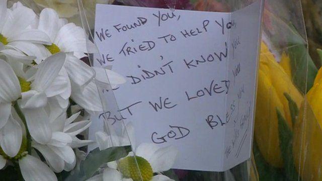 Flowers left at scene of schoolgirl's murder