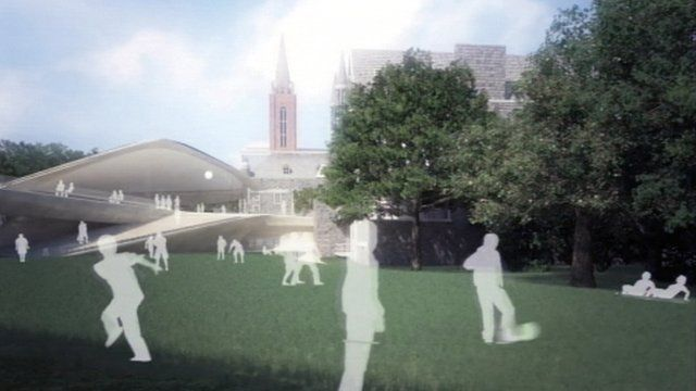 Model of how Union Terrace Gardens could look