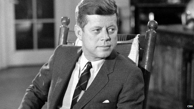 Former President John F Kennedy