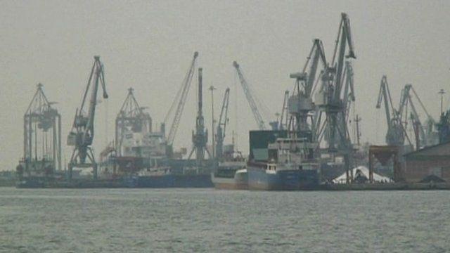 Port in Thessalonikki, Greece