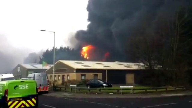 Blaze at a recycling centre in Perth