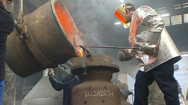 Jubilee bell being cast
