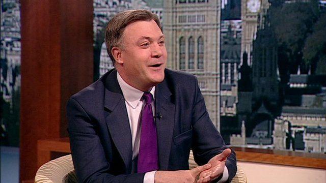Ed Balls jokes with Abdrew Marr.