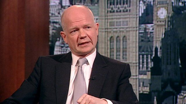 William Hague talks to Andrew Marr
