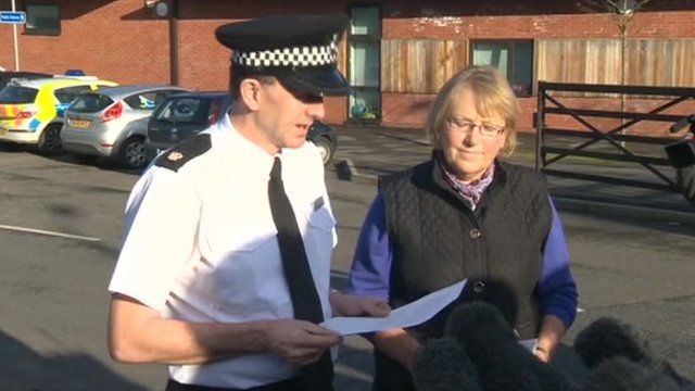 Supt Steve Cullen and Cllr Liz Eyre