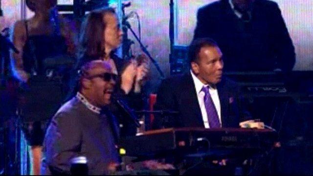 Stevie Wonder and Muhammad Ali