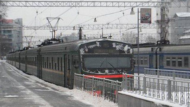 Train sitting at a platform