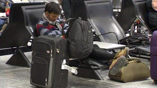 Stranded passenger in Frankfurt