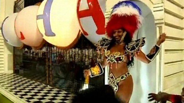 Samba school's version of Buckingham Palace's guard