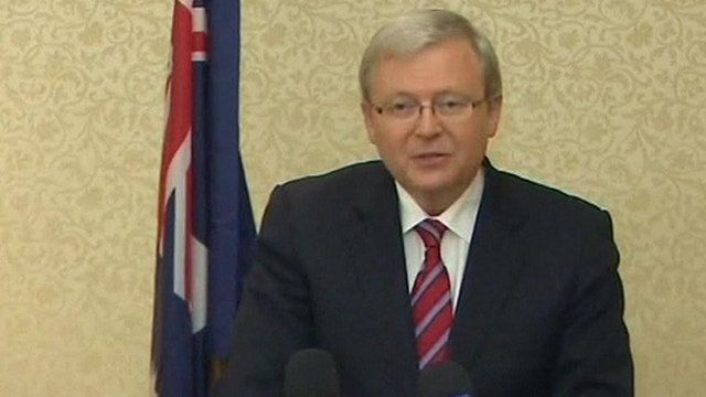 Australia's Foreign Minister Kevin Rudd