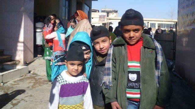 Sikh children in Afghanistan