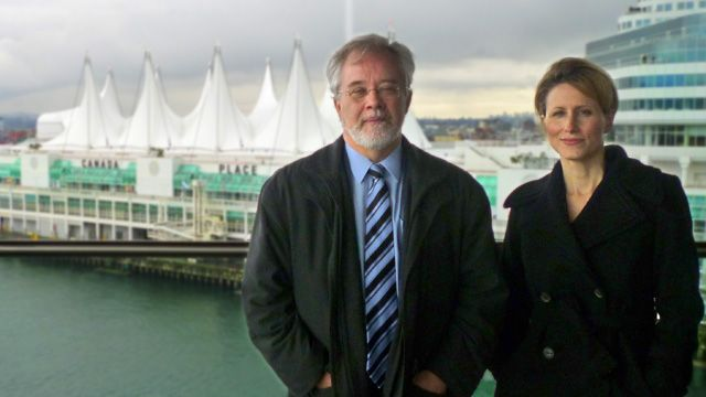ERC secretary-general Donald Dingwell and Dr Dr Nicole Boivin