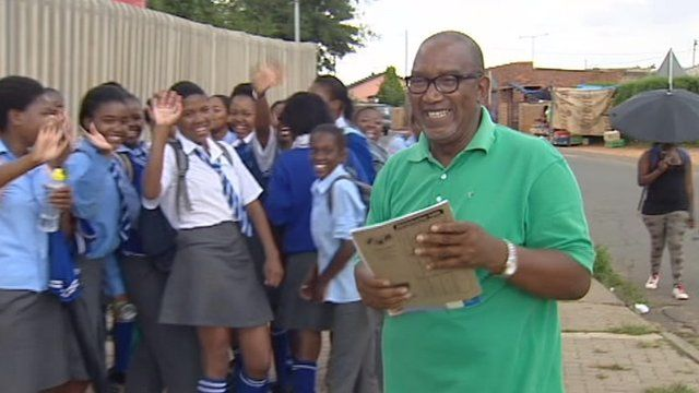 "Sipho ""Hotstix"" Mabusay going to school"