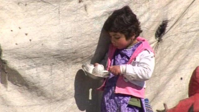 Homeless Afghan girl in the outskirts of Kabul.