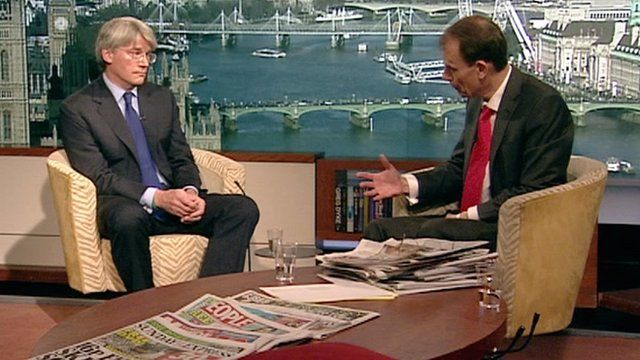 Andrew Mitchell and Andrew Marr