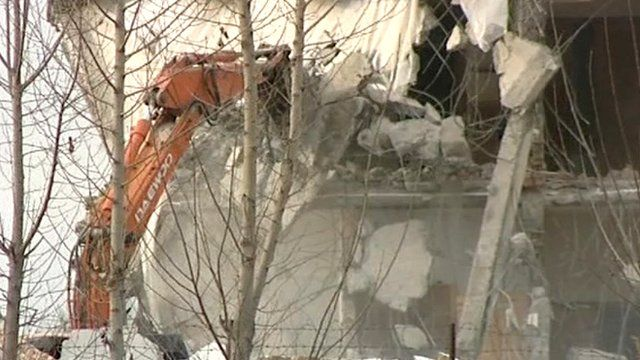 Compound is demolished