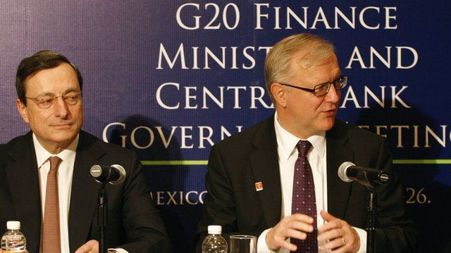 ECB President Mario Draghi and EU Economic and Monetary affairs commissioner Olli Rehn