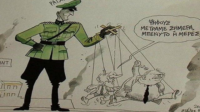 Greek anti-German cartoon