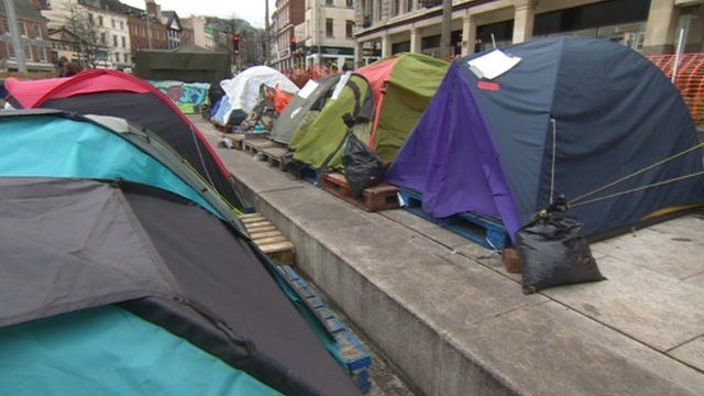 The Nottingham protest camp has been in place for more than 130 days