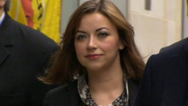Charlotte Church outside the High Court.