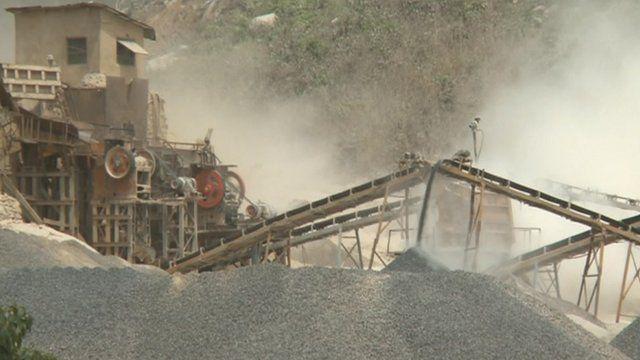 A mine in Sierra Leone