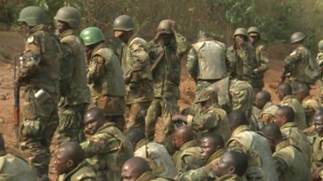 Sierra Leone's soldiers during training