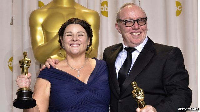 Terry George and Oorlagh at the 84th Annual Academy Awards