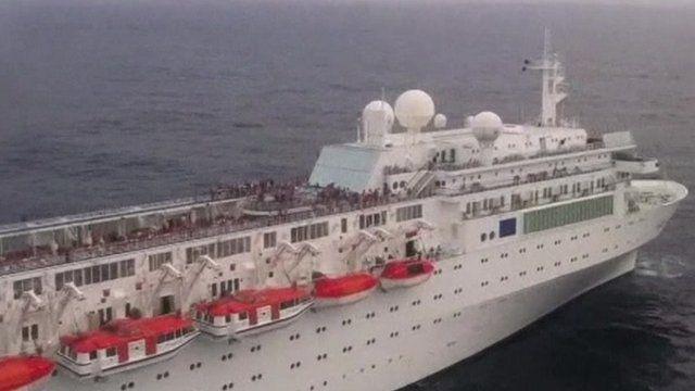 Indian Navy picture of Costa Allegra