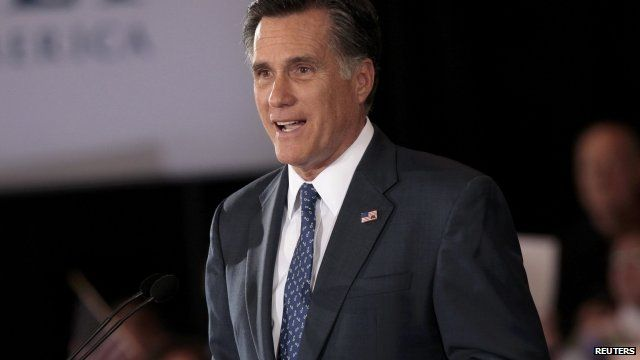 Republican candidate for Presidential nomination Mitt Romney
