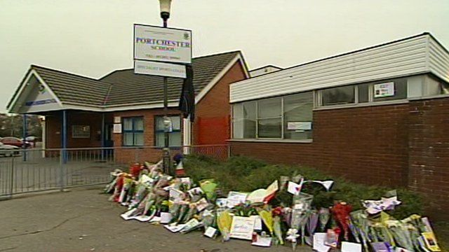 School and floral tributes