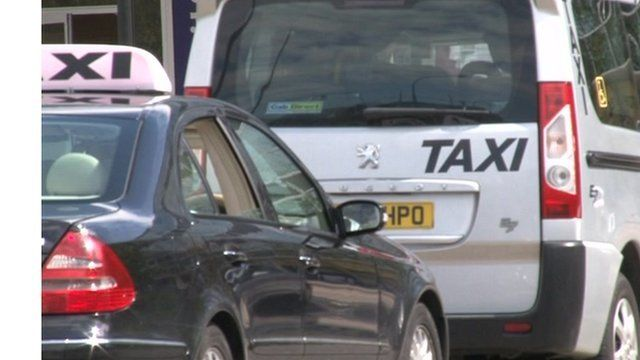 Taxis at a stand