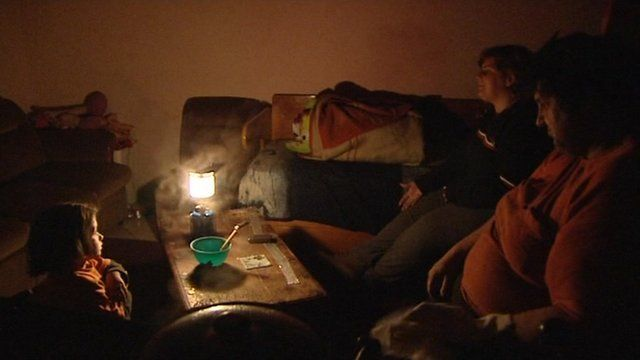 A family without electricity