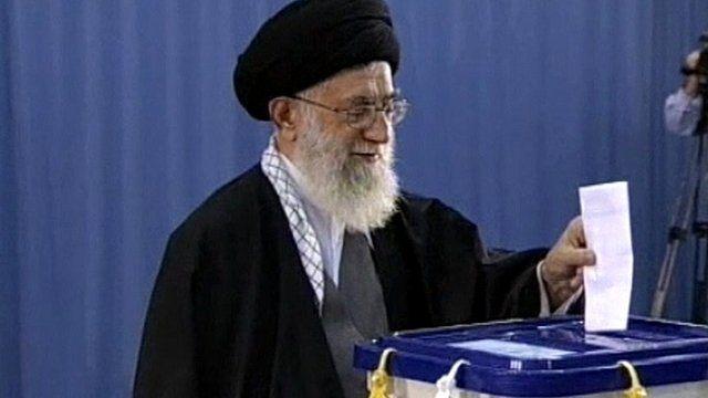 Ayatollah Khamenei voting