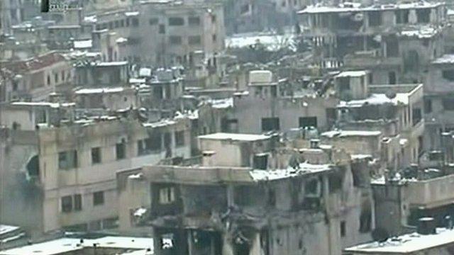 Devastation in Homs