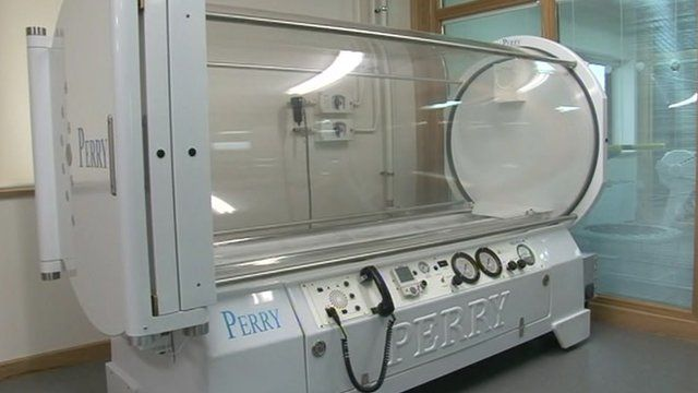 The centre has hyperbaric chambers to help heal fractures