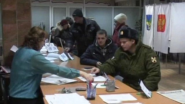 Russian polling station