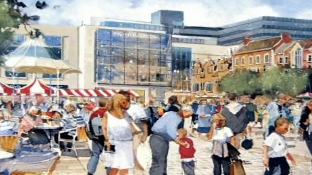 Artist's impression of shopping complex