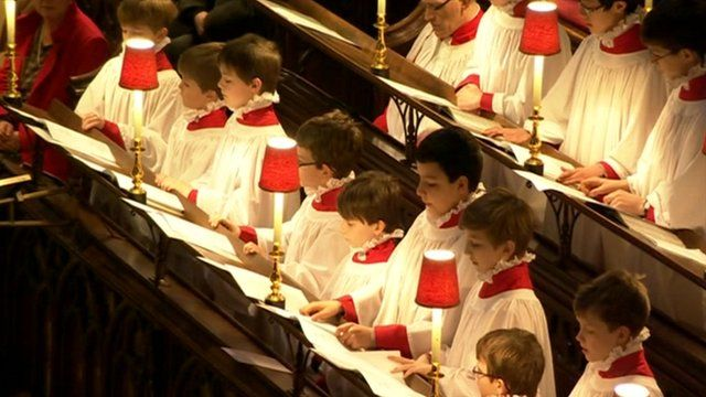 The choir at Westminster Abbey