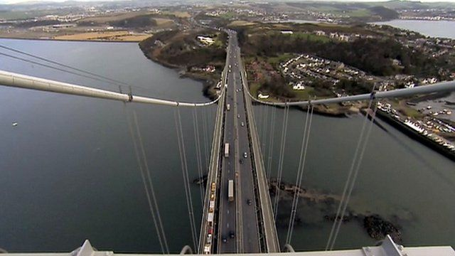 View from the top of the Forth Road Bridge