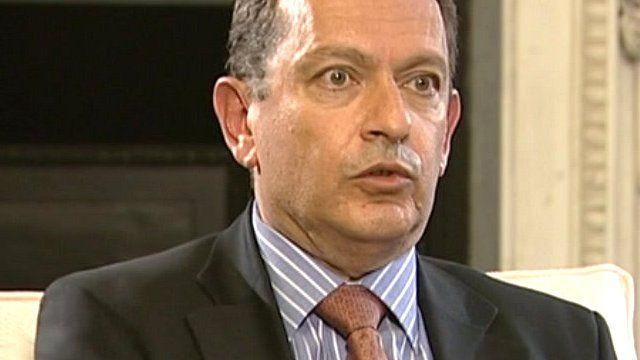 Britain's Ambassador to Syria, Simon Collis.