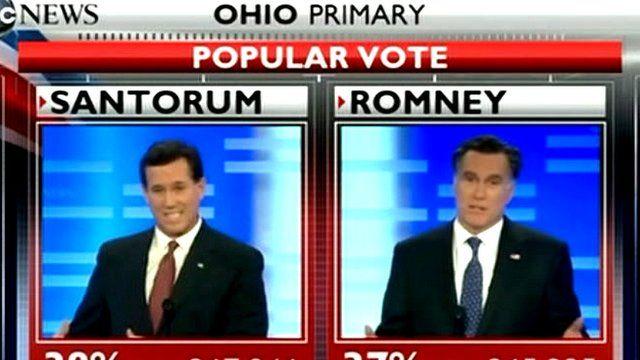 Screen graphic of Rick Santorum and Rick Santorum