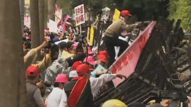 Farmers protesting