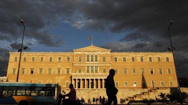 The Greek Parliament, Athens.