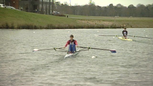 Rowing on Dorney Lake