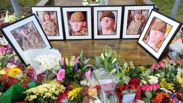 Pictures of the six UK soldiers killed by a bomb in southern Afghanistan