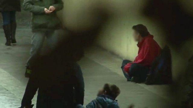 Homeless man on the street (generic)