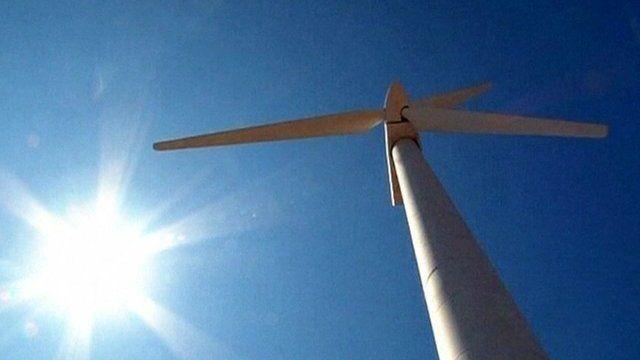 A turbine in the wind farm in Mexico